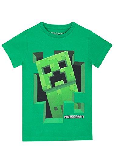 Minecraft Jungen T- Shirt, Alter 8 - 9 Jahre, Grün