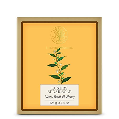 Forest Essentials Neem Basil and Honey Luxury Sugar Soap, 4.2 oz
