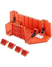 Caja de sierra y sujeción, caja de inglete de almacenamiento de sierra con sierra para carpintería, caja de inglete de almacenamiento de sierra de sujeción de múltiples ángulos