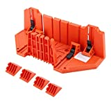 Caja de inglete para sierra, caja de inglete de plástico, sierra de podar, sierra manual para cortar madera, herramienta de hardware de 14 pulgadas con abrazadera