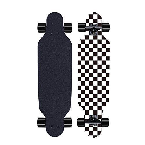 Longboard Boden Typ Free Sliding Skating Cruiser Street Skateboard Geeignet FüR MäDchen AnfäNger Und Kinder Erwachsene Als Geschenke-A