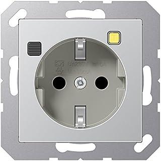 Jung - Base Enchufe shuko 16a con protección diferencial termoplastico Aluminio