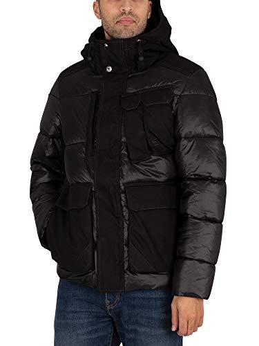 G-STAR RAW Mens Utility Pocket Puffer Jacket, dk Black C360-6484, XL