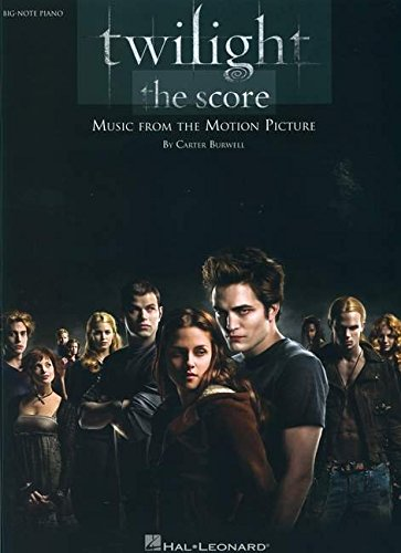 Twilight - The Score -For Big Note Piano-: Noten, Sammelband für Klavier: Music from the Motion Picture