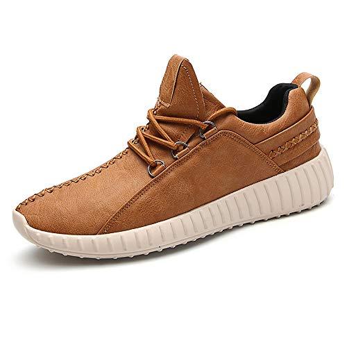 Sneaker para Correr Zapatos de Deportivas Jogging Cuero Veganos Zapatillas de Montaña Calzado para Caminar Transpirables Hombre Marrón 43