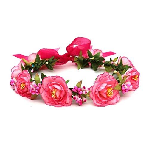 LQXZJ Blumenkranz-Crown-Lilien-Stirnband-Partei Kopfbedeckung Fotografie Props (Color : #-3)