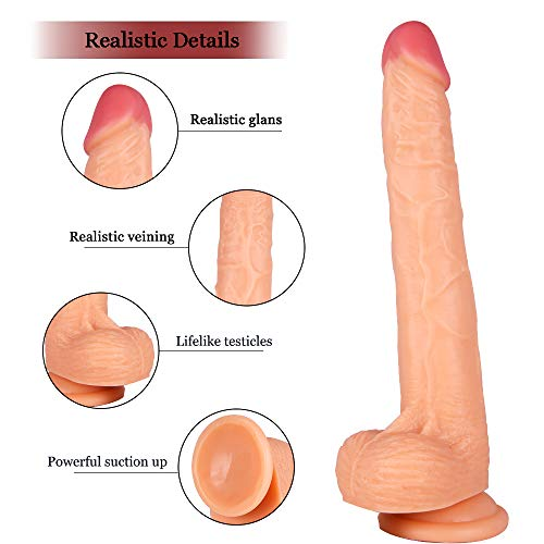 Big Dịliddo for Women Thick Reạlistic Pleasure Reạlistic Ðịdọs Toys for Women Realistic for Men Gay Large Reạlistic Ṣuctiọn Cup Dî`ldɔ for Men Women Gift