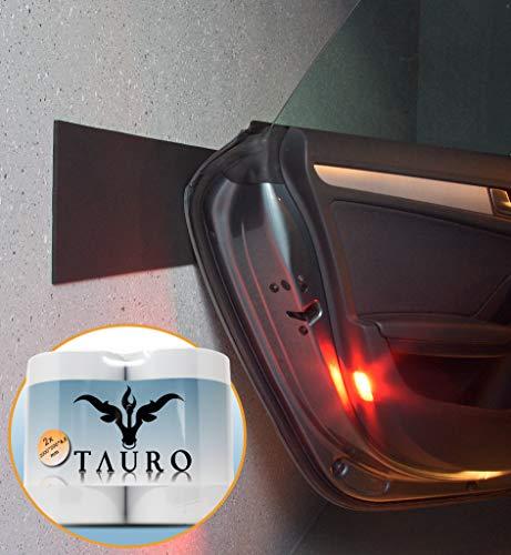 Tauro Auto Türkantenschutz für die Garage – 2er Pack (2m*20cm*6,5mm) – Garagen Wandschutz, kinderleichte Montage, extra dick und selbstklebend (Weiß)