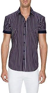 Tarocash Men's Santiago Stripe Shirt Regular Fit Long Sleeve Sizes XS-5XL for Going Out Smart Occasionwear