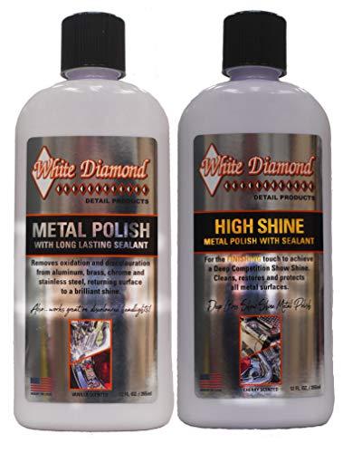 White Diamond Detail Products Metallpolitur und Hochglanzpolitur im Doppelpack