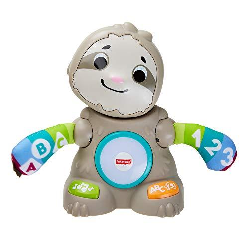 Fisher Price Linkimals Matthieu van paressous, educatief speelgoed, tonen en lampen, Franse versie, 9 maanden en meer, GHY89