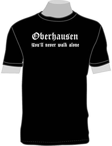 Oberhausen - You'll Never Walk Alone; T-Shirt schwarz, 52/54; Gr. XXL; Damen