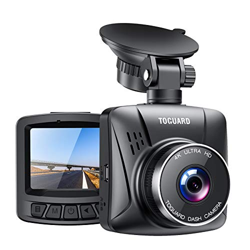 """TOGUARD 4K Dash Cam for Cars with GPS, 2"""" LCD UHD 2160P Car Camera Vehicle Driving Recorder with G-Sensor 170° Wide Angle Parking Monitor Loop Recording White Balance Travelapse"""