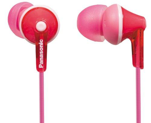 Panasonic RP-HJE125E-P Auriculares Boton con Cable In-Ear (Headphone Sonido Estéreo para Móvil, MP3/MP4, Diseño de Ajuste Cómodo, Imán Neodimio 9mm, Presión de sonido de 97 dB) Color Rosa