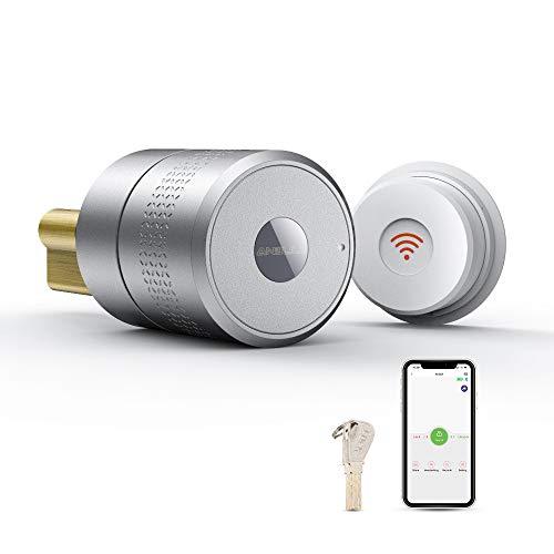 Anbull Cerradura Eléctrica Aplicación Móvil Tecla de Uso Compartido Remoto Cerradura Puerta Interior Bloqueo Inteligente Bluetooth WIFI Gateway Cerradura Seguridad para Oficina en Casa