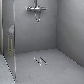 Amazon.es: – Plato de ducha RESINA NEGRO 140X70