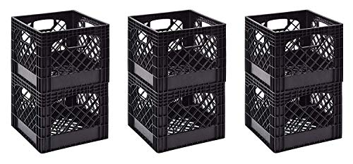 "Muscle Rack MK131311-B2PK 11"" x 13"" x 13"" Black Milk Crate (3 X Pack of 2)"