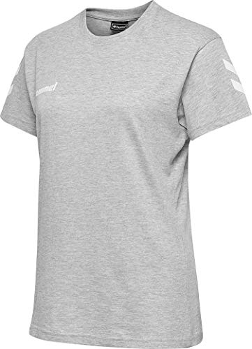 hummel Camiseta de algodón Hmlgo para Mujer, Mujer, Camisetas, 203440-2006, Gris (Melange), Small