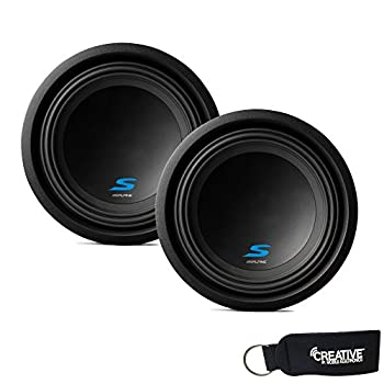 Alpine Subwoofer Package - Two S-W10D4 S-Series 10  Dual 4-Ohm Subwoofers