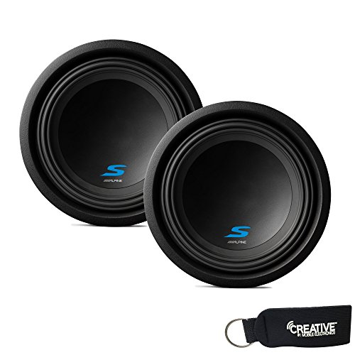 Alpine Subwoofer Package - Two S-W10D4 S-Series 10