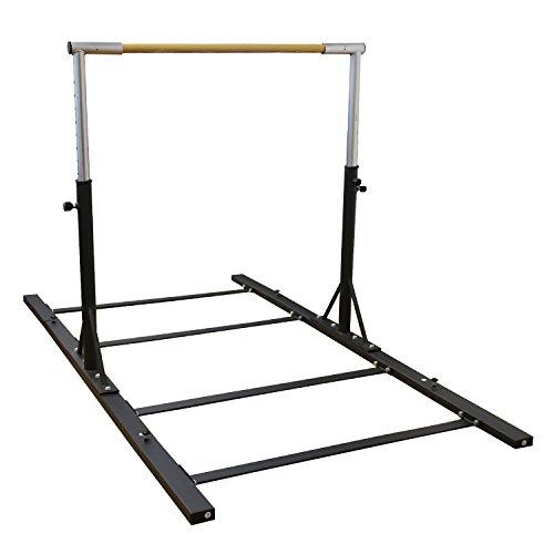 Usexport Gymnastics Expandable Junior Training Bar Adjustable 3' to 5' Horizontal Bar Black
