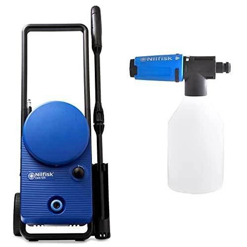 Nilfisk Core 125 bar Hochdruckreiniger für Haus, Garten und Auto Pressure Washer mit Zubehör-Bündel für Sprüher