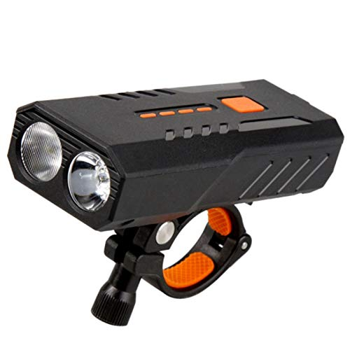 SODIAL 5000 Mah Luz de Bicicleta Sensor de Luz Inteligente Luz Delantera de Bicicleta Luz Impermeable IP63 para Bicicleta LED Linterna Recargable USB