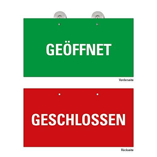 Geöffnet Geschlossen grün-rot Schild Geschäft, Ladenlokal, Einzelhandel; Dienstleistung, Türschild Preiswert im Format 23,5 x 12,5 cm
