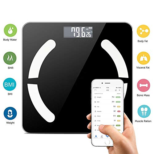 ACHICOO Bluetooth LCD Digitale Smart weegschaal lichaamsgewicht vet BMI Bone analyzer app