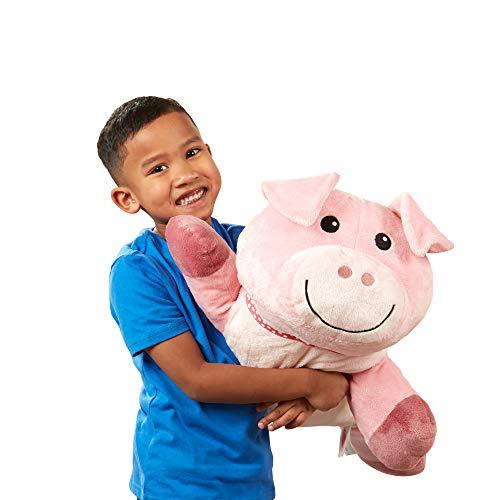 Melissa & Doug Cuddle Pig Jumbo Plush Stuffed Animal with Activity Card