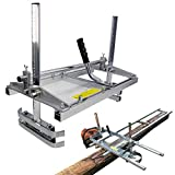 SurmountWay Portable Chainsaw Mill Planking Milling from 14' to 24' Guide Bar Wood Lumber Cutting Sawmill Aluminum Steel Chainsaw Mills for Builders and Woodworkers (14'-24')