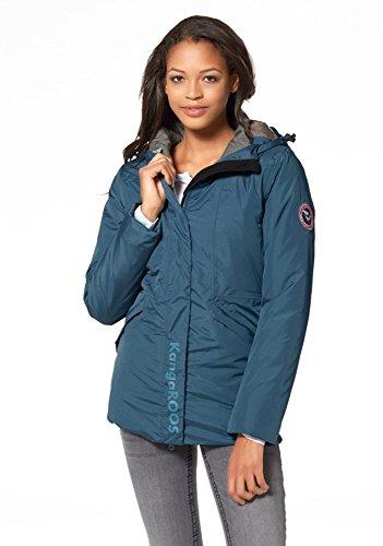 KangaROOS 3-in-1 Jacket Jacke Damen Winterjacke Mantel (36, Blau)