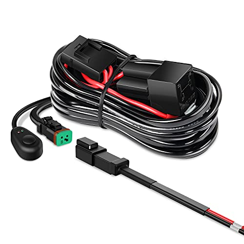 Nilight 10018W 14AWG DT Connector Wiring Harness Kit Bar 12V On Off Switch Power...