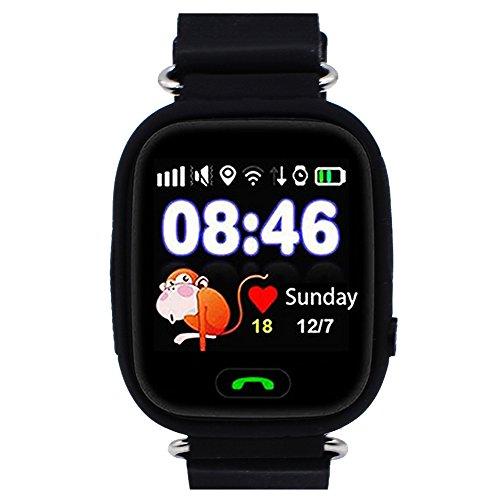 montre intelligente gps pour enfants, traceur de smartwatch gps pour enfant, supporte la carte sim gsm avec écran...