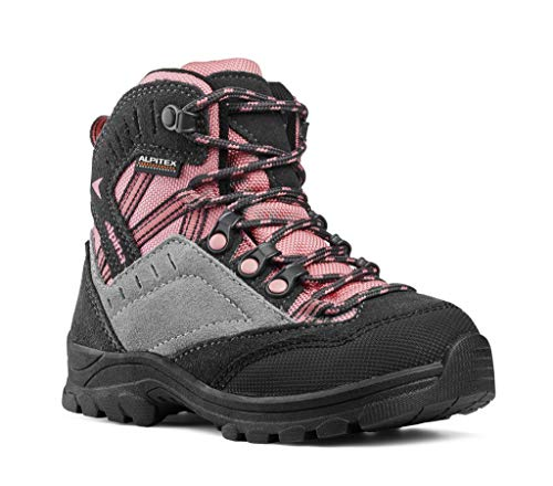 alpina Wanderschuhe, Wanderstiefel für Mädchen in pink/grau mit Rutschfester Sohle (32 EU)