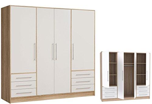 Furniture24 Drehtürenschrank Jupiter Kleiderschrank Schlafzimmerschrank Universalschrank