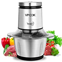 VPCOK Tritatutto da Cucina Elettrico Mixer Cucina 1,2 L 400w Frullatore Tritatutto Multifunzione Robot da Cucina Frullatore Elettrico Frullatori e Impastatrici in Acciaio Inossidabile