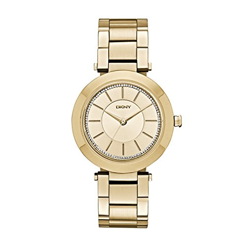 DKNY Damen-Armbanduhr Analog Quarz Edelstahl beschichtet NY2286
