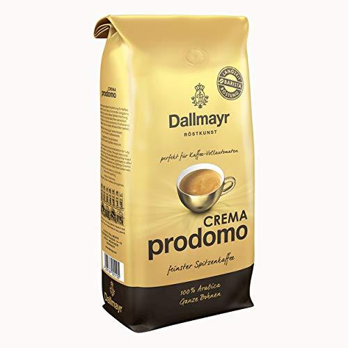 Dallmayr Crema Prodomo, Bohnenkaffee, Röstkaffee, Kaffee, ganze Bohnen, Kaffeebohnen, 8 x 1000 g