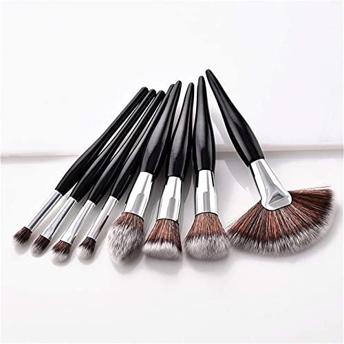 8 peças de pincéis profissionais para maquiagem em pó, blush, base, sombra, pincéis de maquiagem (tamanho : rosa, 8 peças)