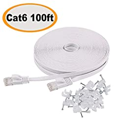 Bundled with the 25 cable clips, no need to buy elsewhere Cat 6 standard provides performance of up to 250 MHz and is suitable for 10Base-T, 100Base-TX (fast Ethernet), 1000Base-T/1000Base-TX (Gigabit Ethernet) and 10GBase-T (10-Gigabit Ethernet) Cat...