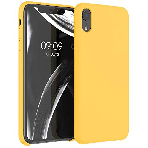 kwmobile Cover Compatibile con Apple iPhone XR - Cover Custodia in Silicone TPU - Back Case Protezione Cellulare Giallo Zafferano