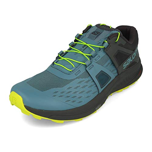 Salomon Men's Ultra Pro Trail Running Shoe, Bluestone/Ebony/Acid Lime, 10