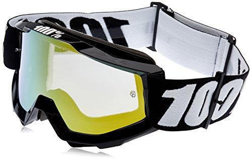 100 Percent ACCURI Goggle Tornado-Clear Lens Gafas de protección, Adultos Unisex, Negro-Cristal Transparente, Mediano