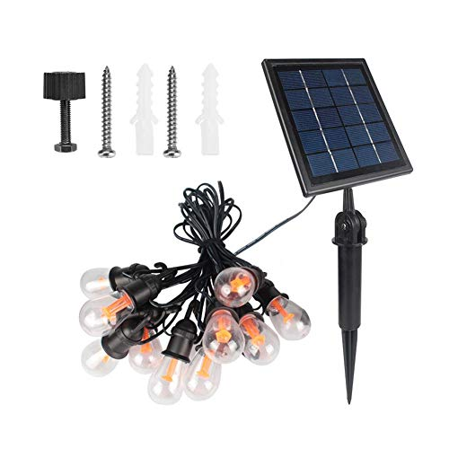 Stronerliou Outdoor Waterproof LED Solar Bulb String Light for Villa Garden Christmas Decoration Pin/Wall Mounting Warm Light