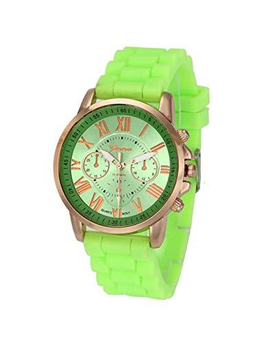 MARRY Damenuhr Frauen Uhren Männer Silikon Ziffern Stunde Armbanduhr Uhr Geschenk, Mg