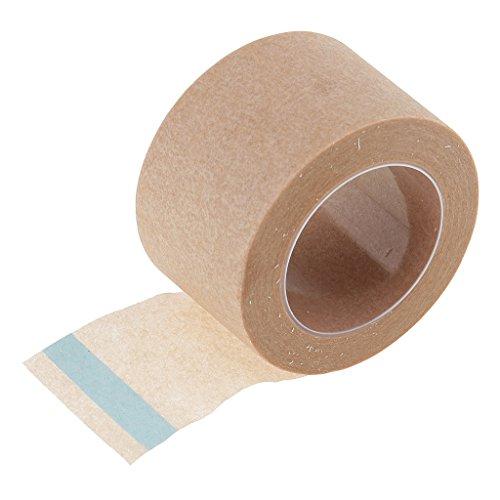 Gazechimp 2.5cm * 9m Rollen Micropore Hautfreundliches Pflaster Make Up Tape für Wimpernverlängerung - Lashes Extensions Klebepflaster - Hautfarbe