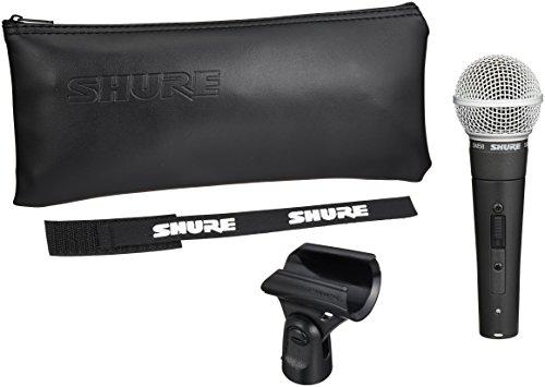 SHURE SM58SE - Micrófono de voz dinámico (interruptor de apagado/encendido), diseñado para el uso profesional en voces en actuaciones en vivo, refuerzo de sonido y grabaciones de estudio