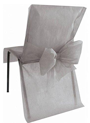 10 Housses de chaise Grise - taille - Taille Unique - 212657
