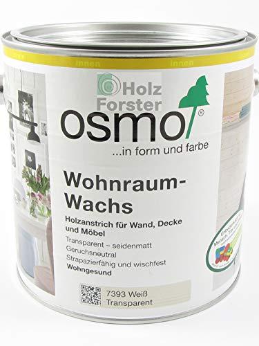 Osmo Wohnraum-Wachs Weiß Transparent 2,50 l - 13100227
